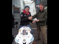 Presenting cheque at NW200
